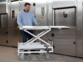 Matthews bespoke multi chambered pet cremator loading trolley