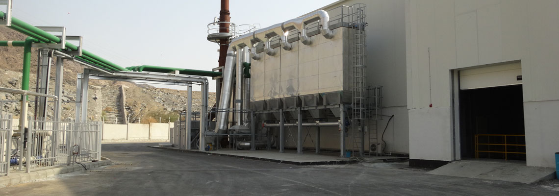 Flue-gas-abatement-system-for-a-24-hour-operation-rotary-incinerator